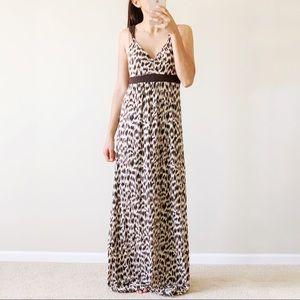 Banana Republic Animal Print Leopard Maxi Dress S
